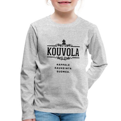 Kouvola - Kappale kauheinta Suomea. - Lasten premium pitkähihainen t-paita
