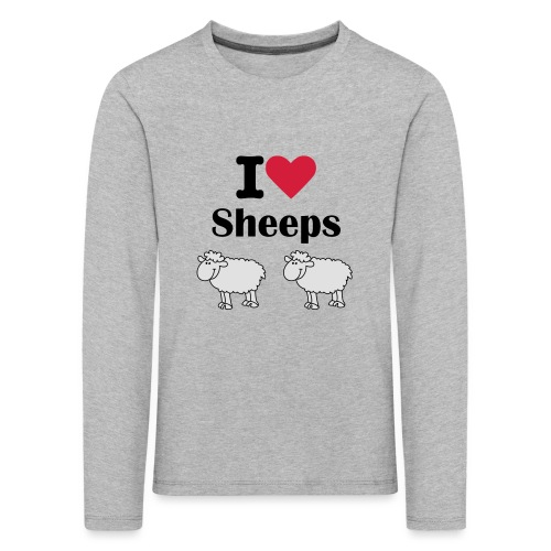 I-love-sheeps - T-shirt manches longues Premium Enfant