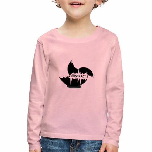 Black Abstract Bird - Kinder Premium Langarmshirt