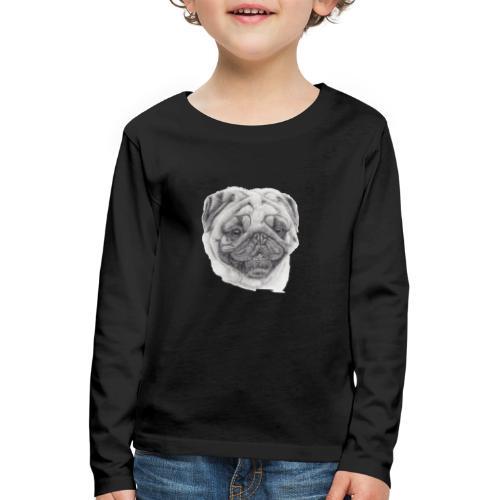 Pug mops 2 - Børne premium T-shirt med lange ærmer
