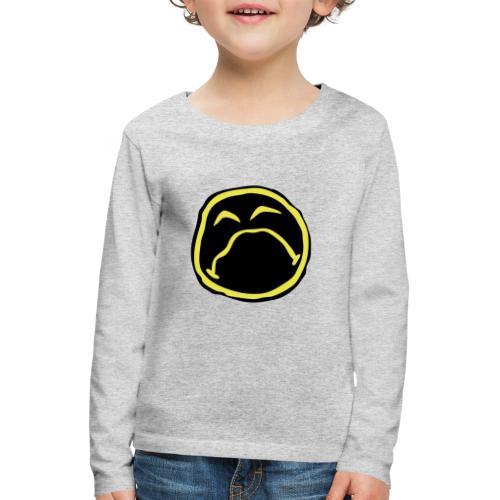 Droef Emoticon - Kinderen Premium shirt met lange mouwen