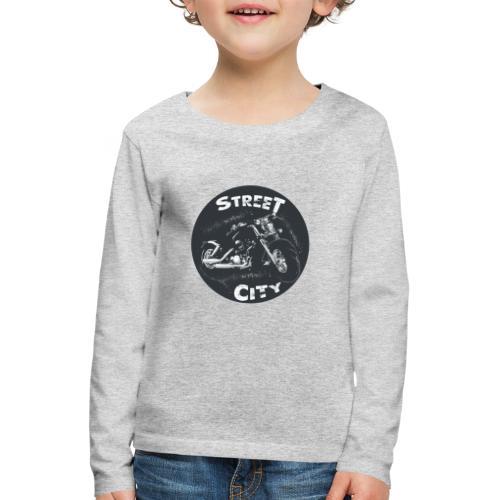 motocicleta - Camiseta de manga larga premium niño
