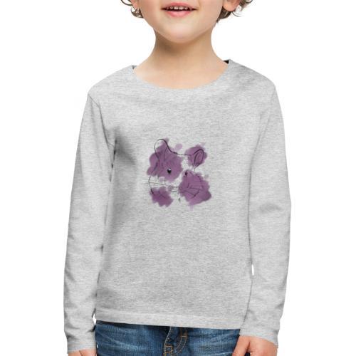 Violet splash chinchilla - Lasten premium pitkähihainen t-paita