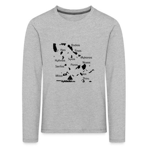Kykladen Griechenland Crewshirt - Kinder Premium Langarmshirt