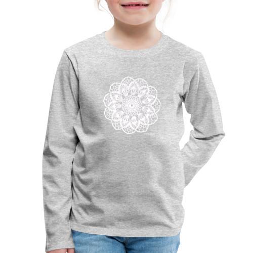 Granny´s Flower, valkoinen - Lasten premium pitkähihainen t-paita