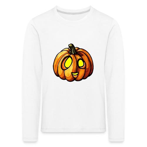 Pumpkin Halloween watercolor scribblesirii - Lasten premium pitkähihainen t-paita