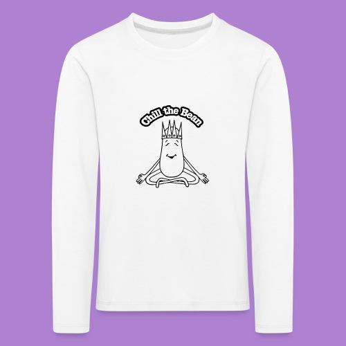 Chill the Bean black outline - Kids' Premium Longsleeve Shirt