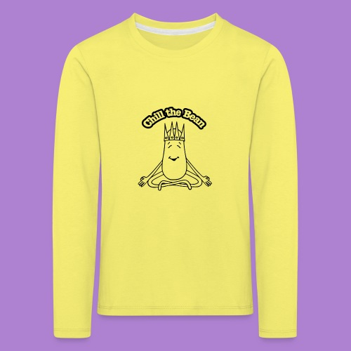 Chill the Bean black outline - Kids' Premium Longsleeve Shirt