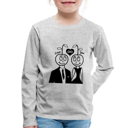 Happy Kirsche Schwarz - Kinder Premium Langarmshirt