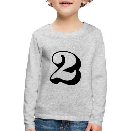 cool number 2 - Kinderen Premium shirt met lange mouwen