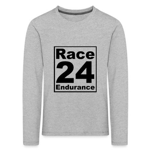 Race24 logo in black - Kids' Premium Longsleeve Shirt