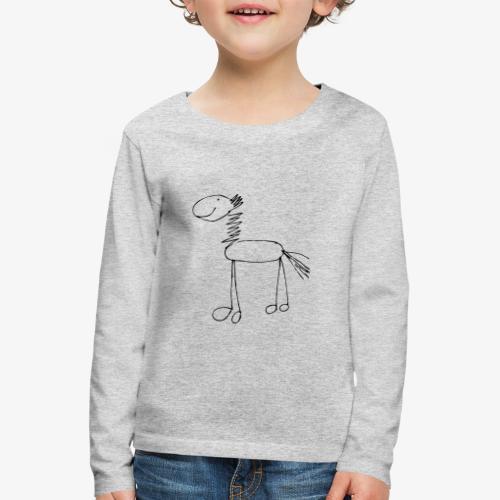 horse1 - Koszulka dziecięca Premium z długim rękawem