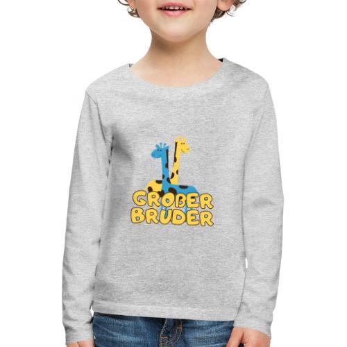 großer Bruder Baby Babyparty Shirt - Kinder Premium Langarmshirt
