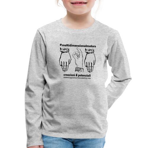 logo #MultiDimensionalMotors con segni mano - Maglietta Premium a manica lunga per bambini