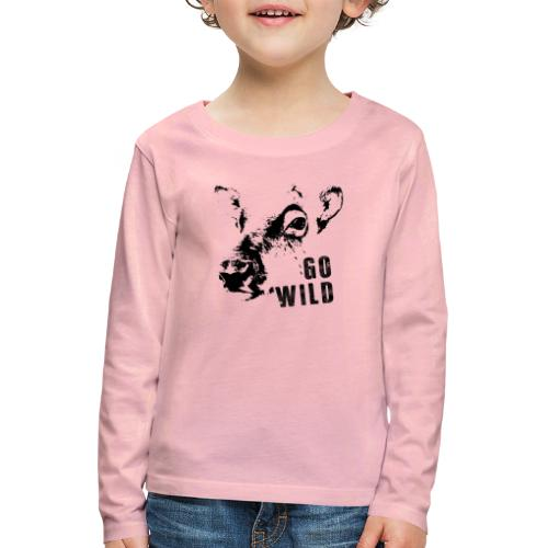Go Wild - Kinder Premium Langarmshirt