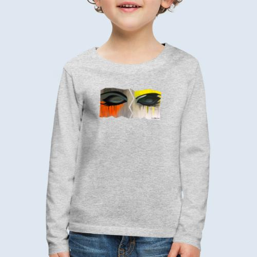 "Augenblick ""closed eyes"" made in Berlin - Kinder Premium Langarmshirt"