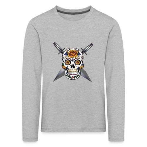 Cross skull swords - T-shirt manches longues Premium Enfant