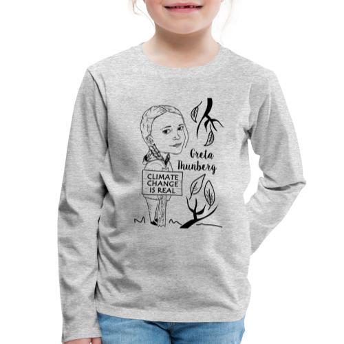 climate change is real - Kids' Premium Longsleeve Shirt