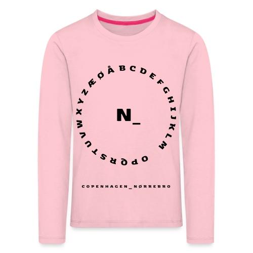 Nørrebro - Børne premium T-shirt med lange ærmer