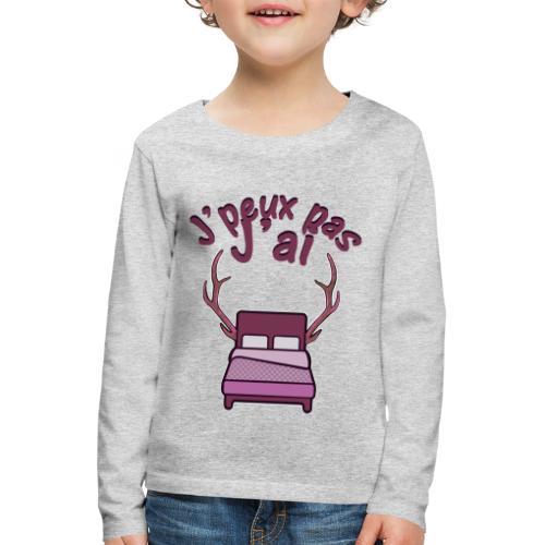 Je peux pas j'ai Lit Corne (Licorne) - T-shirt manches longues Premium Enfant