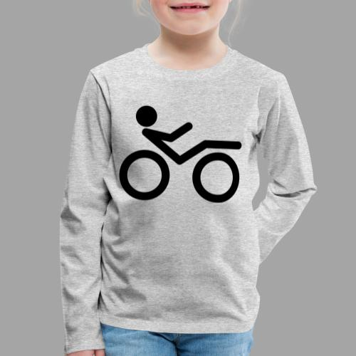 Recumbent bike black 2 - Lasten premium pitkähihainen t-paita