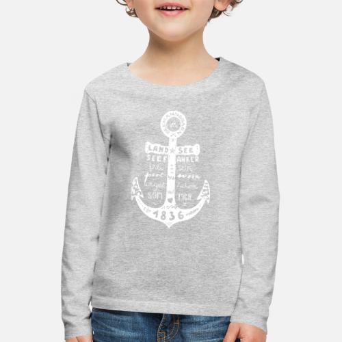 Seemanns Glück ! - Kinder Premium Langarmshirt