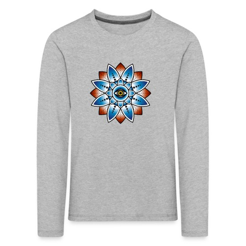 Psychedelisches Mandala mit Auge - Kinder Premium Langarmshirt
