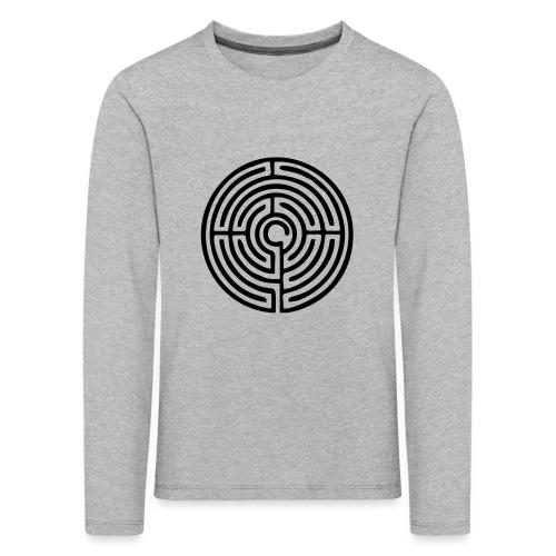 Labyrinth Schutzsymbol Lebensweg Magie Mystik - Kinder Premium Langarmshirt