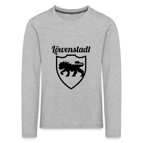 Löwenstadt Design 2 schwarz - Kinder Premium Langarmshirt