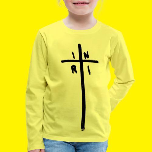 Cross - INRI (Jesus of Nazareth King of Jews) - Kids' Premium Longsleeve Shirt