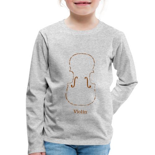 Violin - Børne premium T-shirt med lange ærmer