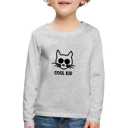 Cool Kid Cat - Långärmad premium-T-shirt barn