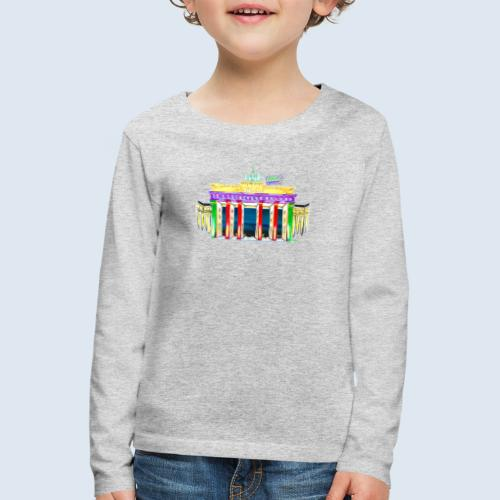 "Berlin ""Brandenburger Tor"" PopArt Design - Kinder Premium Langarmshirt"