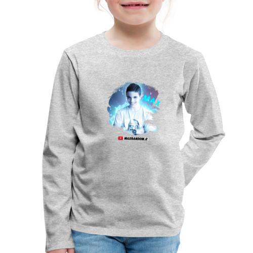 Max Random - Maglietta Premium a manica lunga per bambini