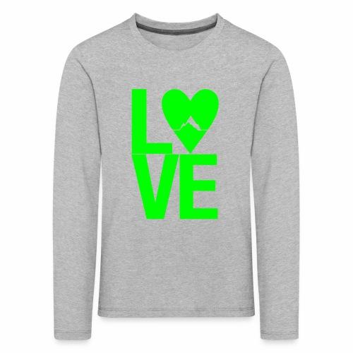 Mountain Love - Kinder Premium Langarmshirt