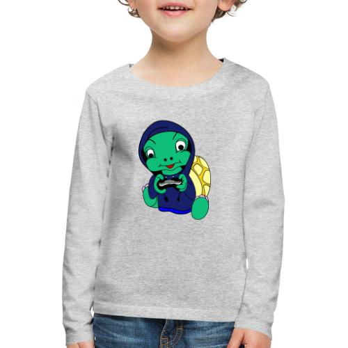 Hoodie gamer schildpad - Kinderen Premium shirt met lange mouwen