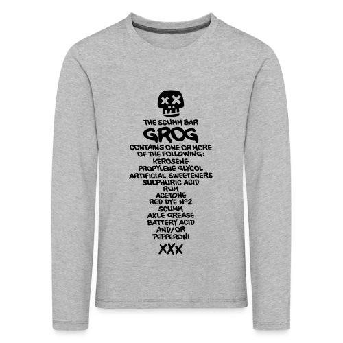 ingredientes grog ingles - Camiseta de manga larga premium niño