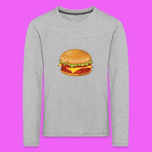 hamburguesa - Camiseta de manga larga premium niño