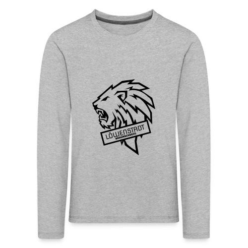 Löwenstadt Design 9 schwarz - Kinder Premium Langarmshirt
