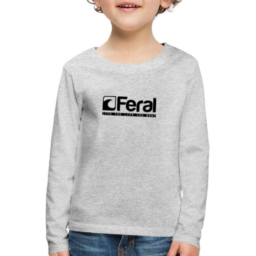 Feral Surf - Live the Life - Black - Kids' Premium Longsleeve Shirt
