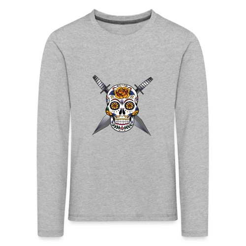 Cross skull swords - T-shirt manches longues Premium Enfant
