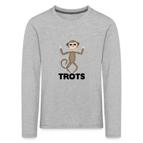 apetrots aapje wat trots is - Kinderen Premium shirt met lange mouwen