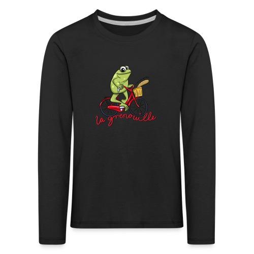 frog boopee black large - Kids' Premium Longsleeve Shirt