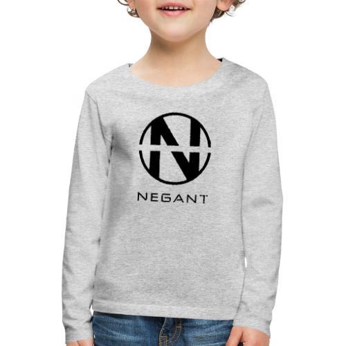 Black Negant logo - Børne premium T-shirt med lange ærmer