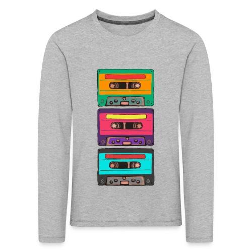 Colorful Cassettes row - Långärmad premium-T-shirt barn