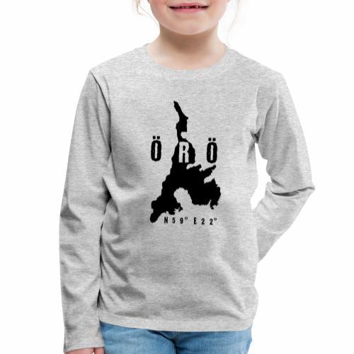 ÖRÖ ISLAND, FINLAND T-SHIRTS, HOODIES + 150 GIFTS - Lasten premium pitkähihainen t-paita