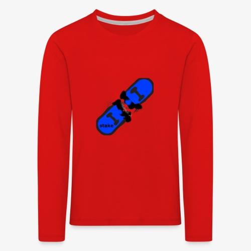 skateboard 512 - Børne premium T-shirt med lange ærmer