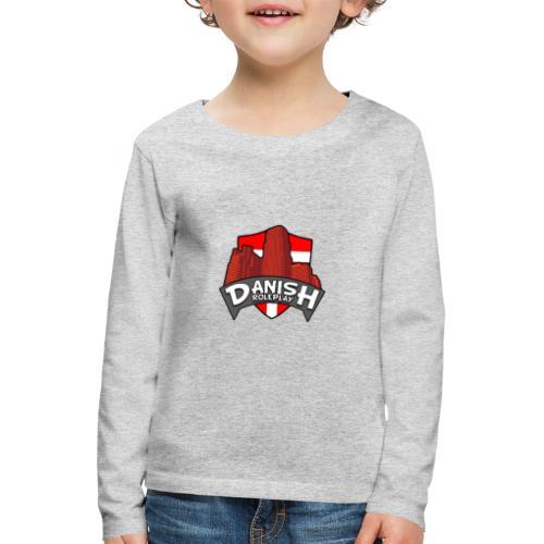 DanishRP Logo - Børne premium T-shirt med lange ærmer