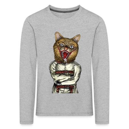 Crazy Cat - T-shirt manches longues Premium Enfant