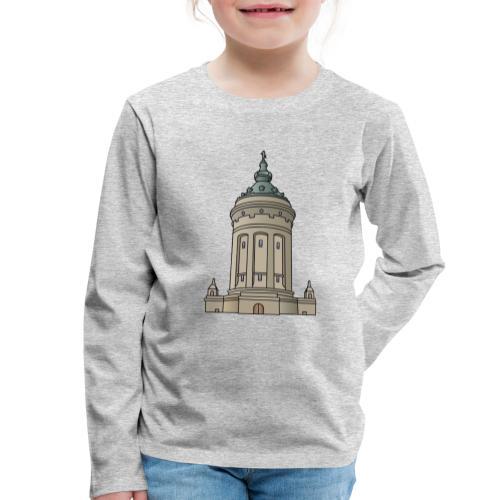 Wasserturm Mannheim c - Kinder Premium Langarmshirt